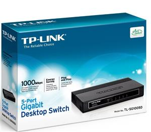 TP-LINK TL-SG1005D 5 Port Gigabit Desktop Switch